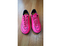 Nike football boots, neon pink, Mercurial, size 4