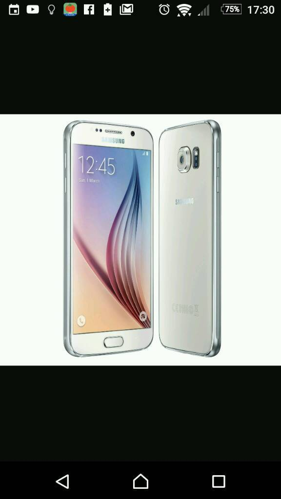 Samsung s6 32gb vodafone glass protecter and case