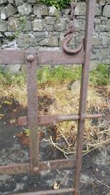 2 traditional wrought iron field gates
