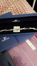 Swarovski gold coloured bracelet