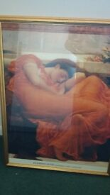 'Flaming June' framed print