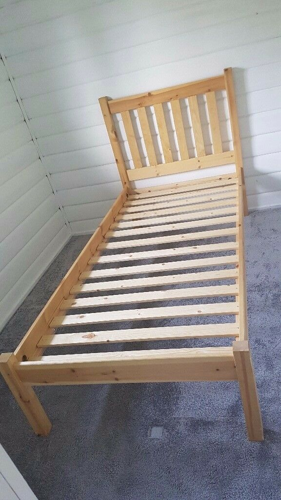 Single Wooden Bedframe *Hardly Used*