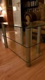 TV Unit - glass and chrome