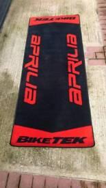 Aprilia Biketek Garage Mat