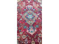 Persian Hamadan Rug - Red Blue White Pink