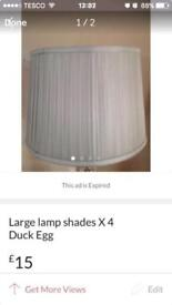 Duck egg blue lampshades