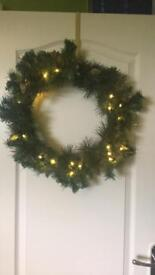 Xmas wreath with lights