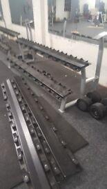 2x 3 tier dumbbell racks