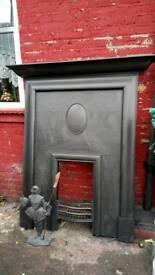 Victorian cast iron fire place