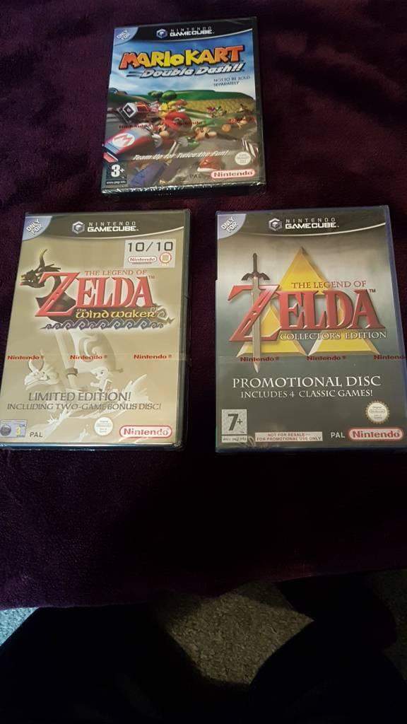3 sealed GameCube games