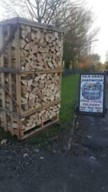 Kiln dried hardwood logs birch, ash or oak ready to burn firewood dumpy bags £65