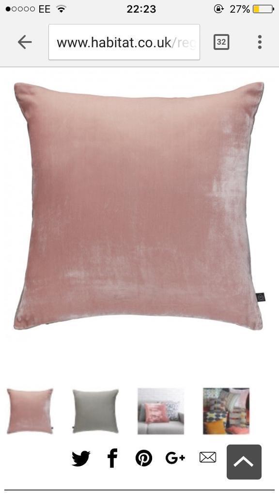 Pair of Habitat Regency cushions in pink
