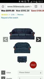 1 year old black sofa 400/300 or new sofa is 550/500 none