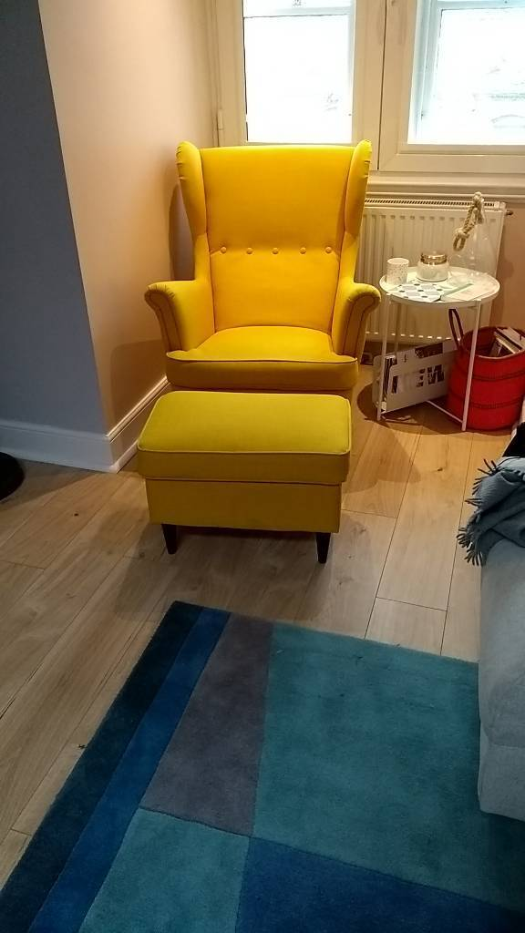 Ikea Yellow Armchair Strandmon
