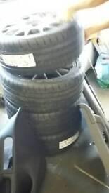 BBS multi spoke alloys and tyres