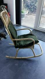Wicker rocking chair ideal for conservatory