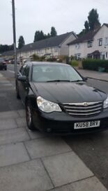 Neatly used Chrysler sebring 2008 black, heated leather sits manual, diesel.