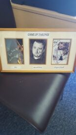 Game of thrones hand signed and framed memorabilia