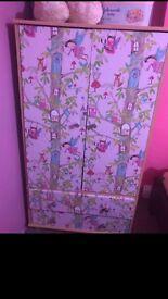 Toddler wardrobe&chester drawer