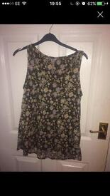 Next size 12 green floral top