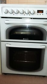 Hotpoint cooker double oven ceramic hob VGC £170 ono mob 07814711752
