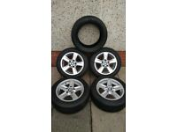 BMW 1 Series Alloys Wheels & Tyres(4)+Michelin 205/55/16 Primacy Spare