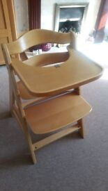 Wooden high chair for sale - sold