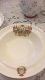 Coronation Plates/ bowls set of four