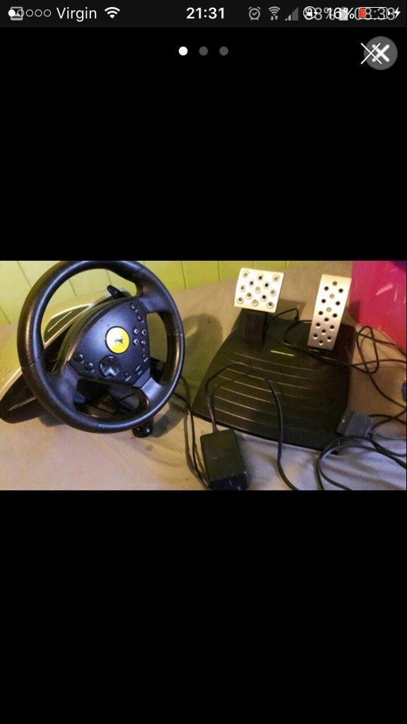 Sony PlayStation steering wheel set