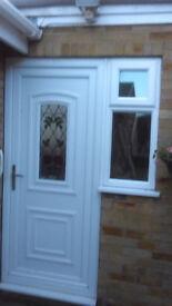 White UPVC Door and Window - Good condition