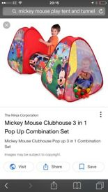 Mickey Mouse/Disney play tent and tunnel