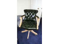 Green Leather Executive Office/Study Chair