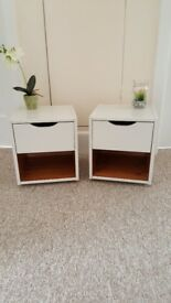 Pair of VERY SMALL bedside cabinets finished in Rustoleum Furniture paint