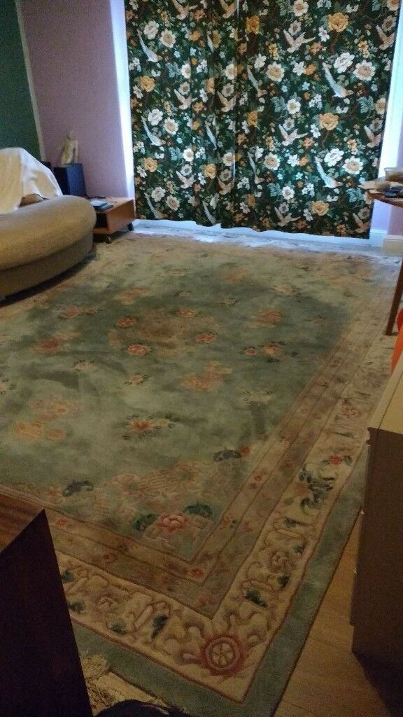 12 ft x 9 ft thick wool ORIENTAL RUG