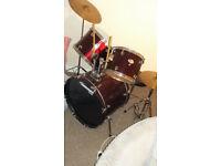 Five piece, Tornado Mapex Drum Kit---(Red)
