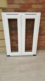 Three white Upvc French Windows for sale - Miss measures excellent & unmarked - from £30 + VAT