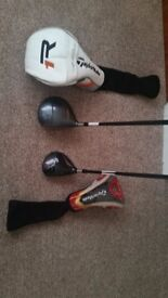 NOW SOLD. Taylormade burner driver and 3 wood. Driver comes with R1 head cover. Great pair of clubs