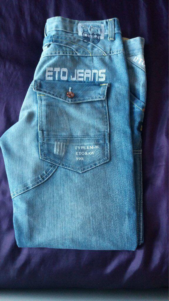 New Mens Designer Limited Edition Eto Jeans Eto Raw 9901.  77663c23a22