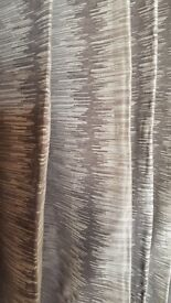 Top quality really wide grey curtains, ideal for bay.
