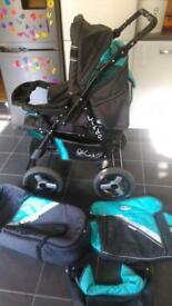 Lindo baby pram stroller 2 in 1 travel system pushchair