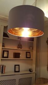 Lightshade only pale grey/copper inside