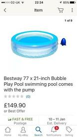 Bubble play pool