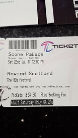 Rewind ticket Scone palace