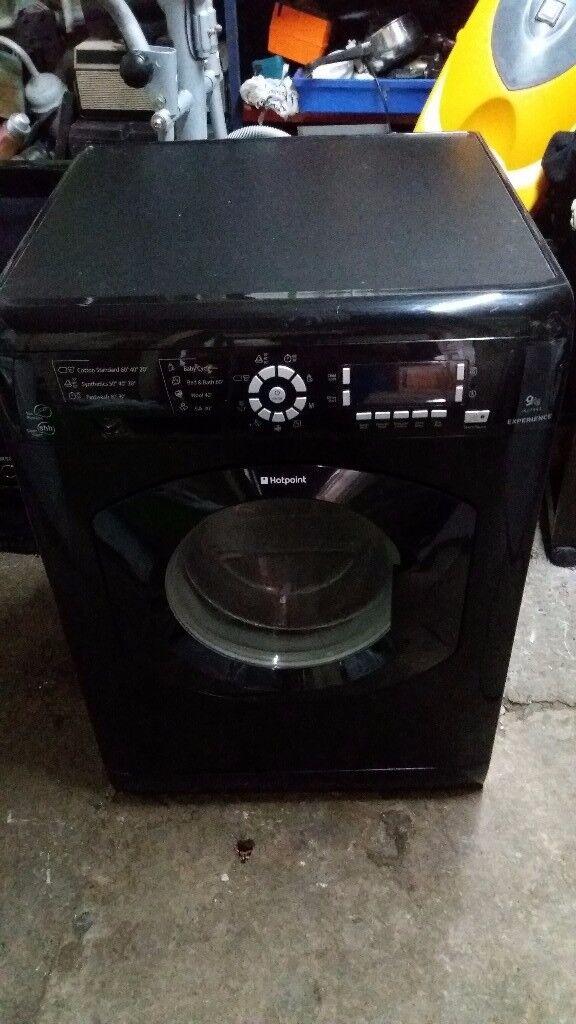 Black hotpoint washer