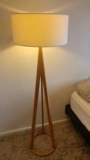 Oak and white Lucci Decor Jacob floor lamp, 143cm, RRP $299