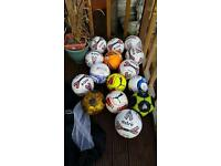 Assorted footballs