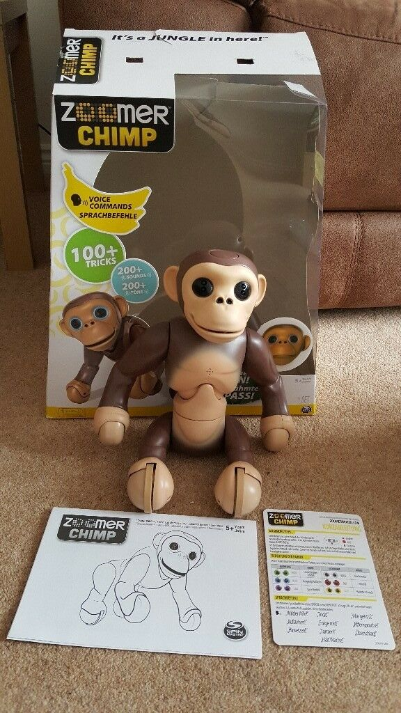 Boxed Spin Master Zoomer Chimp Hardly Used Excellent Condition