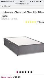 Bed Divan kingsize bed cream
