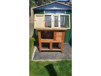 Rabbit hutch and run. Used for dwarf rabbits. No more use as rehomed rabbits.