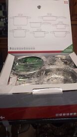 12 Piece German High Quality Cookware Set. Brand New Still Boxed.